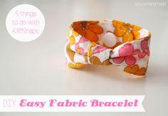 Ein tolles kostenloses Tutorial von lu loves handmade zeigt wie schnell und einfach ein schönes Armband genäht ist. Ähnliche Beiträge