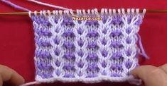 Spool Knitting, Knitting Charts, Easy Crochet Patterns, Baby Knitting Patterns, Crochet Stitches, Hand Knitting, Stitch Patterns, Knit Crochet, Crochet Baby Booties