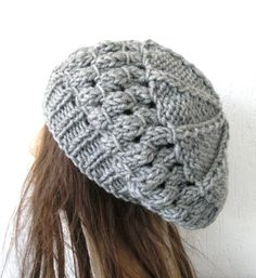 Items similar to Knit Hat Beehive beret accessories for woman Silver Gray Womens Hat Slouchy Beanie Beret Autumn Winter Accessories fashion Christmas on Etsy Knitting Patterns, Sewing Patterns, Quick Knits, England Fashion, Beehive, Winter Accessories, Beret, Hats For Women, Knitted Hats