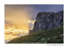 Saint Stephen monastery at sunset - null