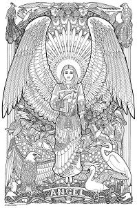 1000 images about angel coloring on pinterest angel for Giant coloring pages for adults