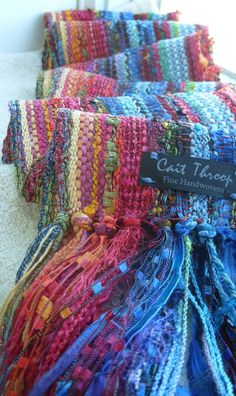lovely handwoven scarf by barefootweaver on etsy