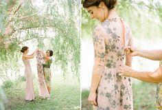 Melanies Grey and Blush Wedding Gown