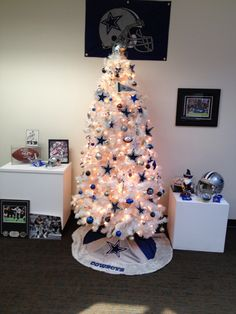 Dallas Cowboys Christmas Tree My Dad Needs This For His Drum Office