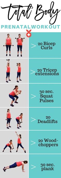 Fit pregnancy workout with 6 moves to give you your strongest and best prenatal body ever!