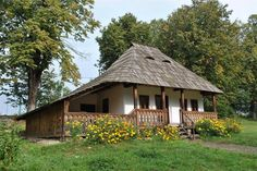 "Traditional houses in rural Romania (case traditionale romanesti) *** Upon arriving in her new home country in the young wife of Prince Carl of Romania noticed in her writings: ""Every R… Old Country Houses, Old Houses, Rural House, House In The Woods, The Beautiful Country, Beautiful Homes, Little Paris, Dream Properties, European House"