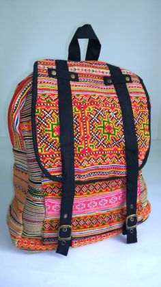 58f9449ecf10 Hmong Bags · ON SALE Embroidery Ethnic Hmong Backpack Rucksack by pasaboho  Hipster Backpack