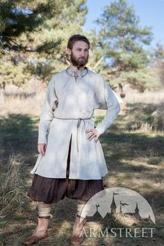 "Norman Viking Linen Shirt ""Olaf the Woodman"""