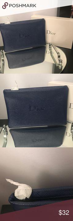 Dior Navy Makeup bags Brand new with box. Super cute Sephora Makeup