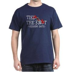 Cafepress Personalized Tied The Knot (Add Wedding Date) Dark T-Shirt, Size: Small, Blue