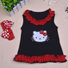 Aliexpress.com : Buy Summer Style Children Clothing Sleeveless Kids Cotton Minions Ruffle Tops Rabbit Print Girls Clothes with Headband free shipping from Reliable clothing sticker suppliers on Feikebella Baby clothing   Alibaba Group