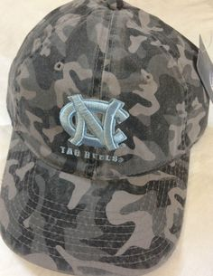 3cee0d85dde NORTH NCAA CAROLINA Tar Heels UNC NC Logo Gray CAMO Camouflage Cap Hat NWT by  Signatures