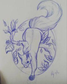 Cute Little squirrel. Motif dispo à la réservation pour un tattoo apres le confinement. Réalisation en couleur . 23x16 cm .  Infos et réservation uniquement par mail 📩ninah.tattoo@gmail.com  #tattoolife  #tattooartwork  #flashtattoo  #squirrel  #squirreltattooflash  #colorstattoo  #absolemtattooshop Dark Art Drawings, Cute Animal Drawings, Art Drawings Sketches, Tattoo Sketches, Tattoo Drawings, Squirrel Tattoo, Squirrel Art, Squirrel Illustration, Tattoo Artwork