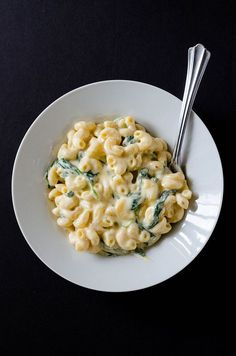 "Greek yogurt creamy ""healthy"" mac & cheese."