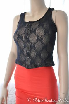 BLACK LACE CORSET BUSTIER BODICE TOP SHIRT BLOUSE SIZE S SMALL WOMEN'S CLOTHING
