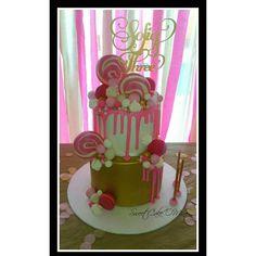 Lollypop drip cake!  www.sweetcakeomine.net