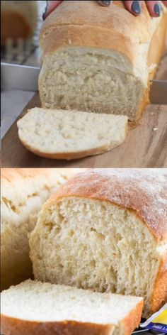 This EASY White Bread is made from scratch. It makes two loaves and is the perfe… This EASY White Bread is made from scratch. It makes two loaves and is the perfect sandwich bread! Making homemade bread is easier than you think. Best Sandwich Recipes, Best Bread Recipe, Easy Bread Recipes, Simple Bread Recipe, Bread Maker Recipes, Light Airy Bread Recipe, Pioneer Bread Recipe, White Bread Recipes, Snacks
