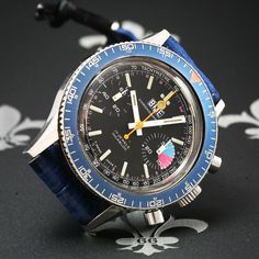 Professionally Serviced BME Swiss Vintage Chronograph Watch Valjoux Cal. 7733