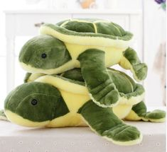 Soft Plush Tortoise Pillow Huge Size 45 and 55 cm Soft plush turtle with a filling of high-quality PP cotton (through CE certification). A very nice soft cushion! Japanese Animals, Japanese Toys, Fluffy Rabbit, Turtle Plush, Cute Turtles, Sea Turtles, Anime Dolls, Plushies, Dinosaur Stuffed Animal