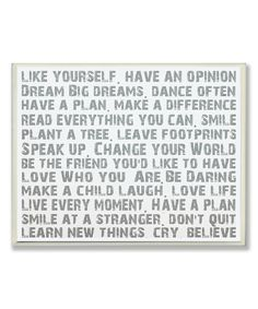Like Yourself Inspirational Wall Sign