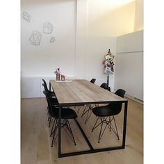 √ Best Kitchen Table Design Ideas for Your Amazing Kitchen Design Room Inspiration, Interior Inspiration, Diner Table, Design Tisch, Design Table, Best Kitchen Designs, Dining Room Table, Dining Chairs, Table Lamps