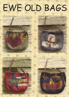 I love these wool bags! Maybe for my grands for Christmas