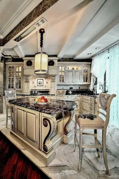 Tuscan design – Mediterranean Home Decor Elegant Kitchens, Luxury Kitchens, Beautiful Kitchens, Cool Kitchens, Tuscan Kitchens, Country Kitchens, Luxury Kitchen Design, Best Kitchen Designs, Home Design