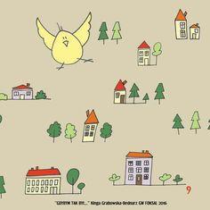 Ptaszek bird kids illustration