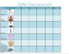 Skills Homework Self Regulation, School Hacks, Homework, Books To Read, Therapy, Activities, Thoughts, Feelings, Reading