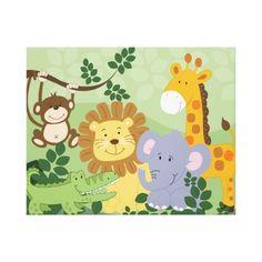 Jungle Nursery Rug Thenurseries