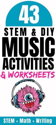43 Music Activities for Kids: Sound STEM Projects {FREE Worksheets} - Parent Vault: Educational Resources, Lesson Plans & Virtual Classes