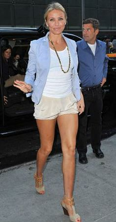 How to Dress Like Cameron Diaz: 3 Hot Looks for In and Out of the Classroom | Look 1: Shorts