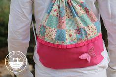 """El blog de """"Coser fácil y más by Menudo numerito"""" - Costura creativa: Cómo coser una mochila fácil y rápido"""