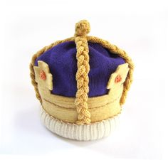 Jubilee Knitted Royal Crown, Handmade Baby Costume Hat - Available in sizes up to 12 months. $98.00, via Etsy.