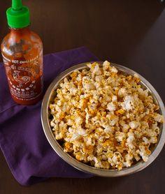 sriracha popcorn hot cheetos craving solved!
