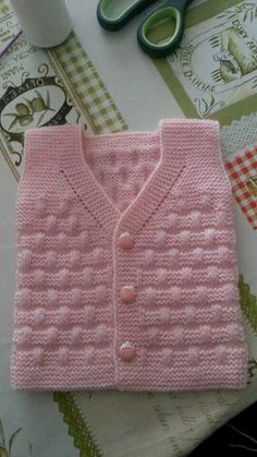 knitted baby cardigan with poc Baby Knitting Patterns, Baby Sweater Knitting Pattern, Knitted Baby Cardigan, Knit Baby Sweaters, Knitting For Kids, Easy Knitting, Crochet For Kids, Knitting Stitches, Knitting Designs