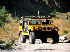 Hop aboard a bright yellow H-1 Hummer and explore Joshua Tree National Park!