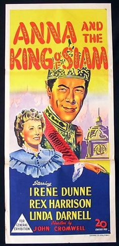 ANNA AND THE KING OF SIAM Daybill Movie poster Rex Harrison Irene Dunne