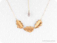 Gold filled //  Gold Leaves Necklace // 'Never Leave Me' // Autumn Inspired Jewelry // on Etsy, $48.89