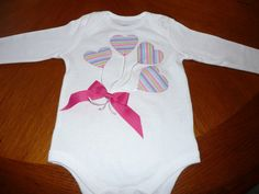 Balloon Applique Onesie or Shirt with Bow