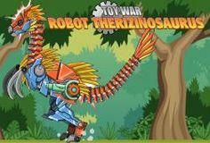 Fabrica tu propio dinosaurio robots y lleva a cabo una serie de luchas contra otros dinosaurios. Primero deberás de montar tu robot, poniendo todas las piezas en su sitio que lo consigas formar por completo. Cuando lo tengas, podrás cambiar el color a tu gusto, así lo harás aún más personalizado. Lo siguiente será entrenar con tu robot, primero con una carrera en la que tendrás que esquivar todos los obstáculos y luego en el campo de entrenamiento. En este empezarás a conocer para que sirve…