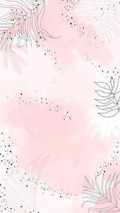 Pink leafy watercolor mobile phone wallpaper vector | premium image by rawpixel.com / Aum