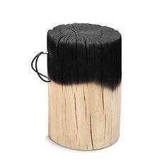TRUNK 1/3 : rondin de bois brûlé au tiers, aux 2/3 ou 100%... selon les goûts , ou pour la collection avec variantes... Chez Design de Collection Art Furniture, Bar, Image, Collection, Design, Classic Interior, Solid Wood, Trends