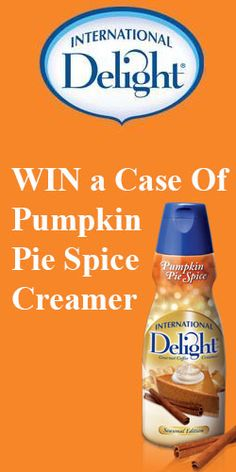 Win a Case Of #PumpkinPie Spice Creamer #Omnomnom #Sweepstakes #Giveaway
