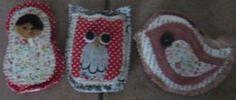 Babushka, Owl and Bird Lavender Bags.  Handmade at Oople