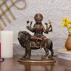 Metal Figurines, Shiva Statue, Durga Maa, Goddess Lakshmi, Hindu Deities, Family Gifts, Indian Art, Accent Colors, Valentine Gifts