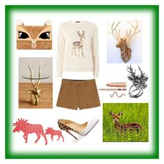 """deer"" by dharshanaarun on Polyvore featuring Dorothy Perkins, Christian Louboutin, Betsey Johnson, Mulberry, Anthropologie and Emilio Pucci"