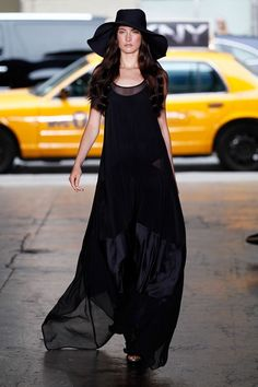 I LOVE IT! in black   DKNY Spring Summer Fashion 2012 Collection at New York Fashion Week