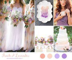 peach and lavender wedding inspiration