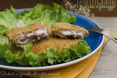 Cotolette ripiene prosciutto e formaggio: The cutlets stuffed with ham and cheese